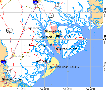Beaufort County, SC map