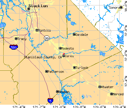 Stanislaus County, CA map