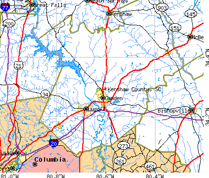 Kershaw County, SC map