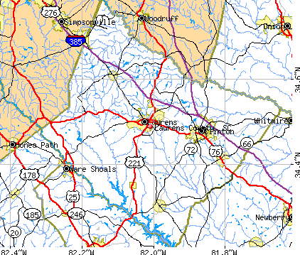 Laurens County, SC map