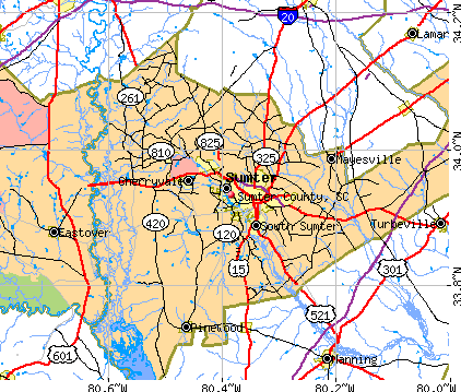 Sumter County, SC map