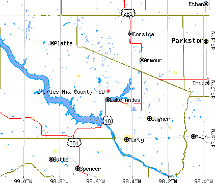 Charles Mix County, SD map