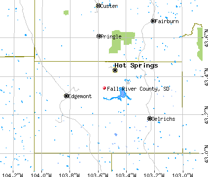Fall River County, SD map