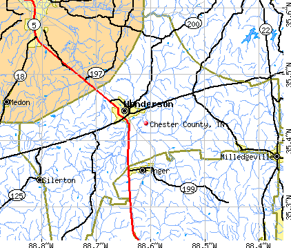 Chester County, TN map