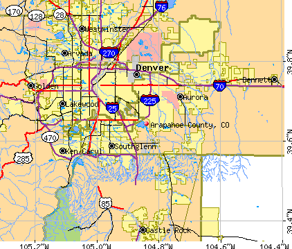 Arapahoe County, CO map