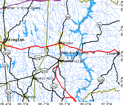 Decatur County, TN map
