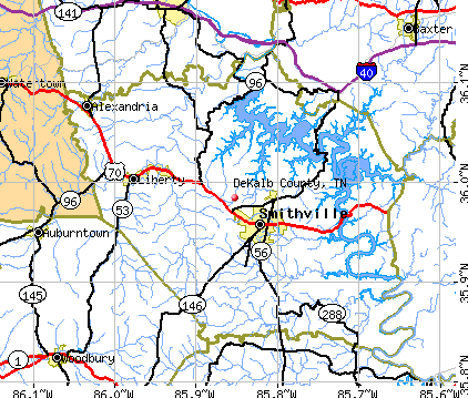 DeKalb County, TN map