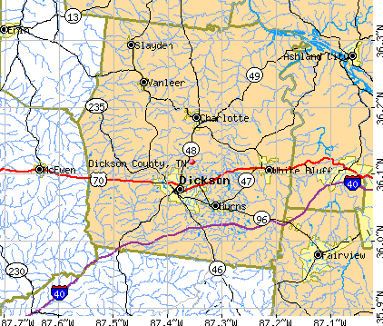 Dickson County, TN map