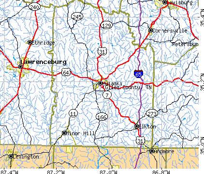 Giles County, TN map