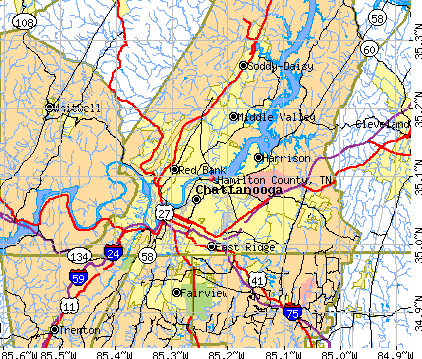 Hamilton County, TN map