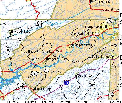 Hawkins County Tennessee Detailed Profile Houses Real Estate - Map of counties in tennessee
