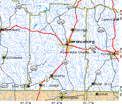 Lawrence County, TN map