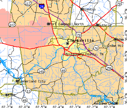 Montgomery County Tennessee Detailed Profile Houses Real - Map of counties in tennessee