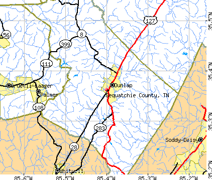 Sequatchie County, TN map