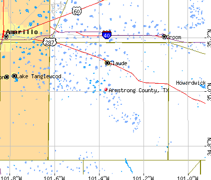 Armstrong County, TX map