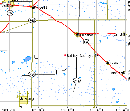 Bailey County, TX map