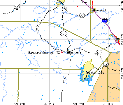 Bandera County, TX map