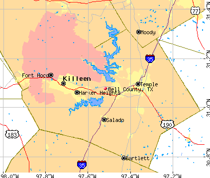 Bell County, TX map