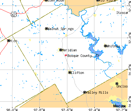 Bosque County, TX map