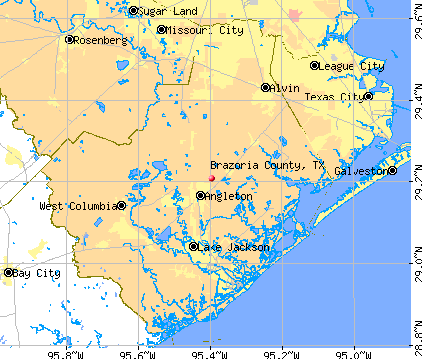 Brazoria County, TX map