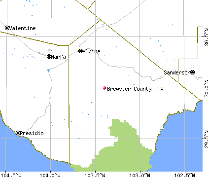 Brewster County, TX map