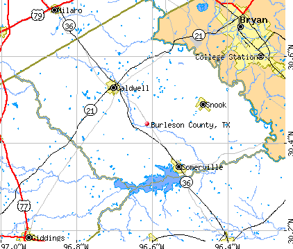 Burleson County, TX map
