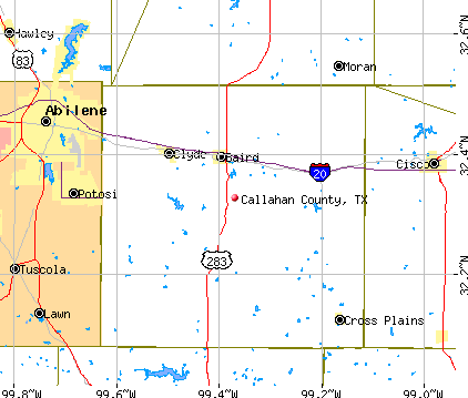 Callahan County, TX map