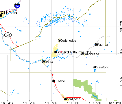 Delta County, CO map