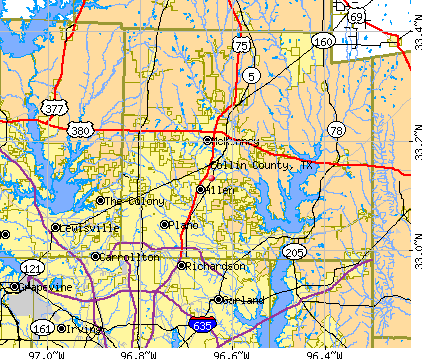 Collin County, TX map