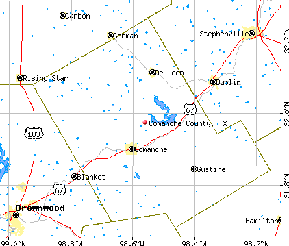 Comanche County, TX map