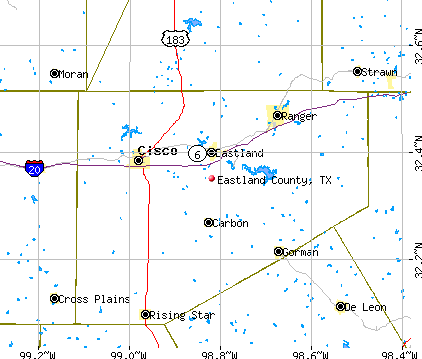 Eastland County, TX map