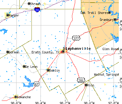 Erath County, TX map