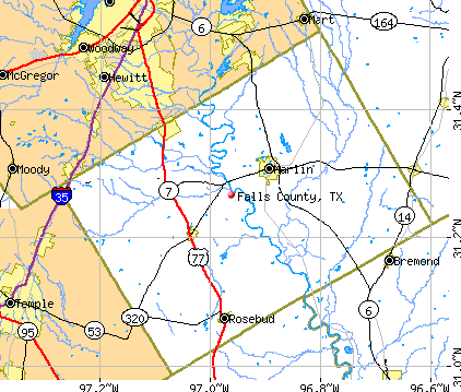 Falls County, TX map