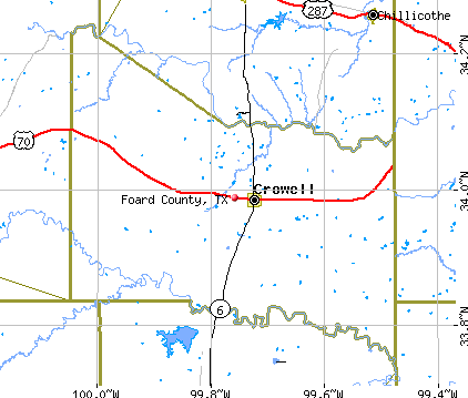 Foard County, TX map