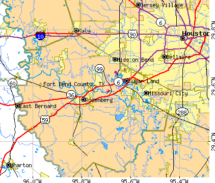 Fort Bend County, TX map