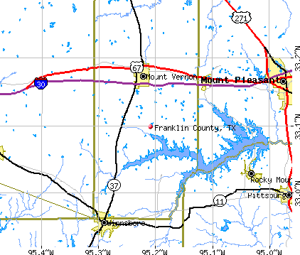 Franklin County, TX map