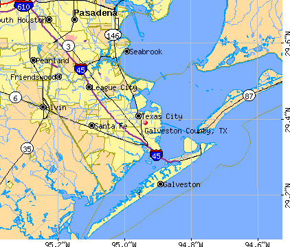 Galveston County, TX map
