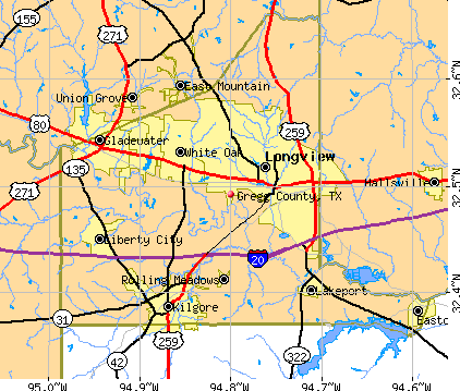 Gregg County, TX map