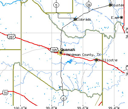 Hardeman County, TX map