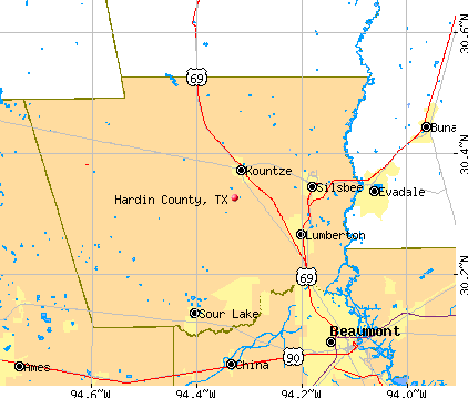 Hardin County, TX map