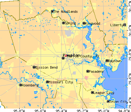 Harris County, TX map