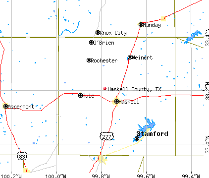 Haskell County, TX map