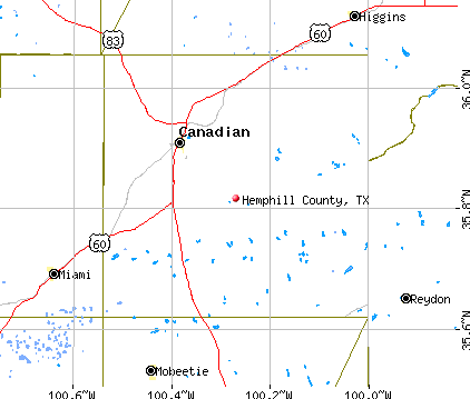 Hemphill County, TX map