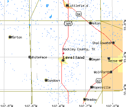 Hockley County, TX map
