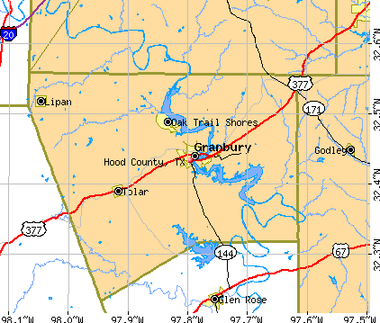 Hood County, TX map