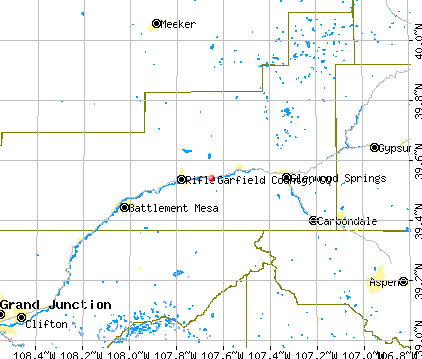 Garfield County, CO map