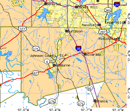Johnson County, TX map