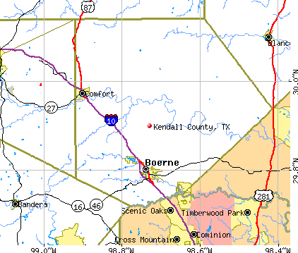 Kendall County, TX map