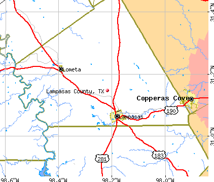 Lampasas County, TX map