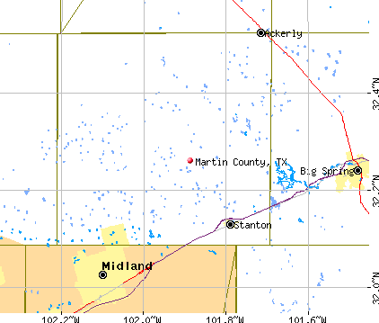 Martin County, TX map
